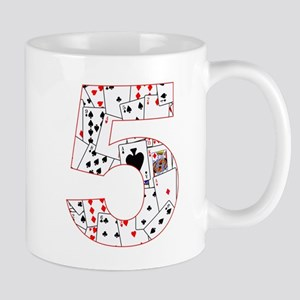 Number Five Cards Mugs