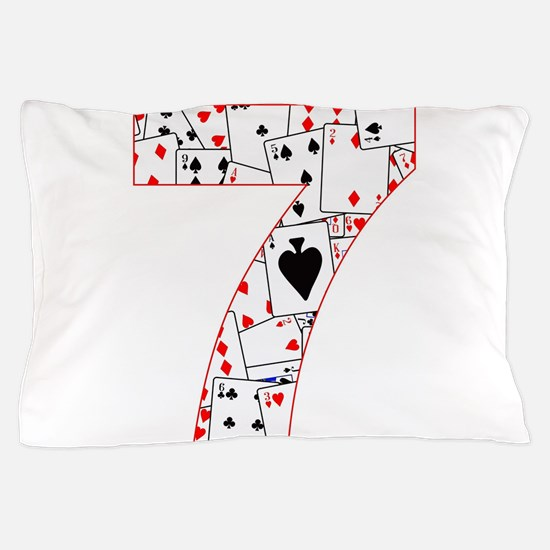 Number Seven Cards Pillow Case