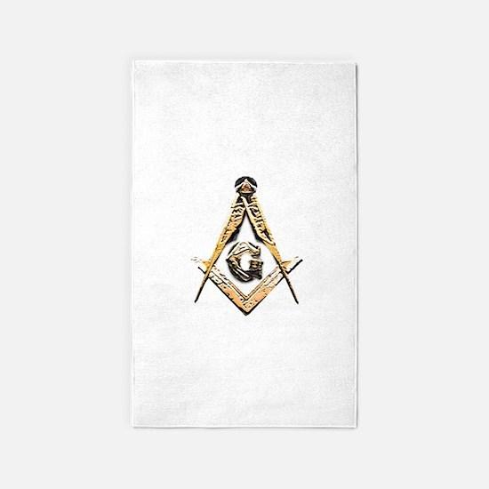 Masonic Mind (Yellowish) Area Rug