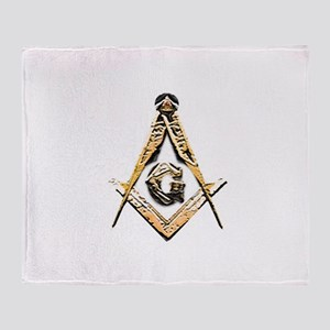 Masonic Mind (Yellowish) Throw Blanket