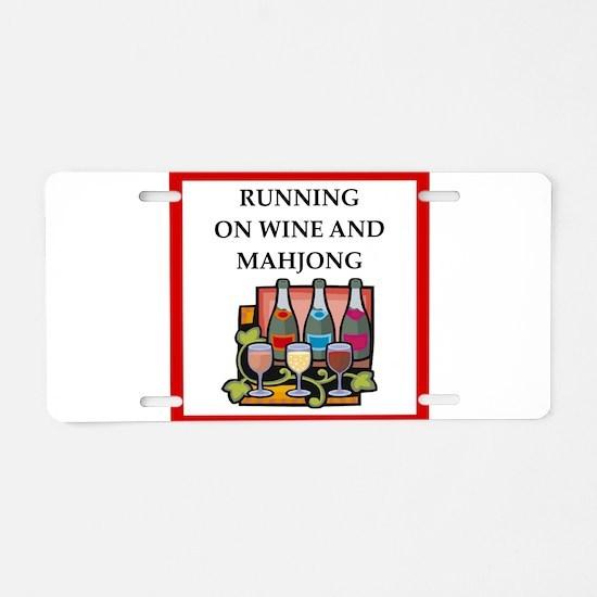 mahjong Aluminum License Plate