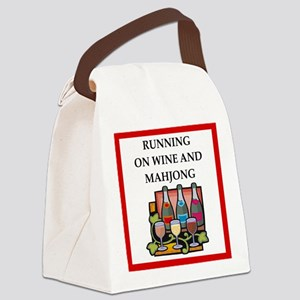 mahjong Canvas Lunch Bag