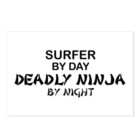 Surfer Deadly Ninja Postcards (Package of 8)