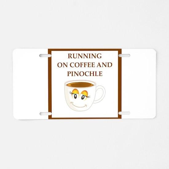 pinochle Aluminum License Plate