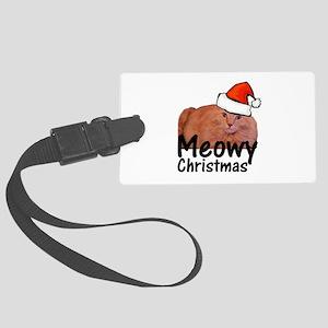 Meowy Christmas Large Luggage Tag