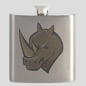 Metallic Rhino Flask