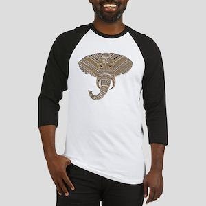 Silver Metallic Elephant Head Baseball Jersey