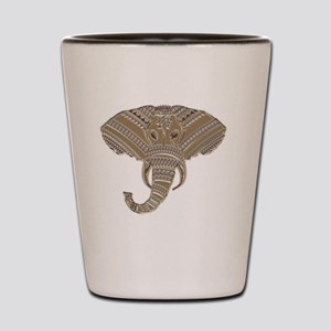 Silver Metallic Elephant Head Shot Glass
