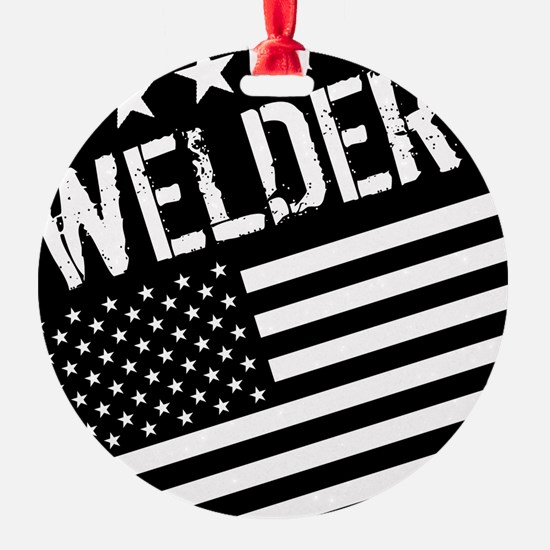 Welder: Black Flag (Circle) Ornament