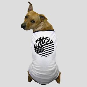 Welder: Black Flag (Circle) Dog T-Shirt