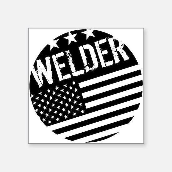 Welder: Black Flag (Circle) Sticker