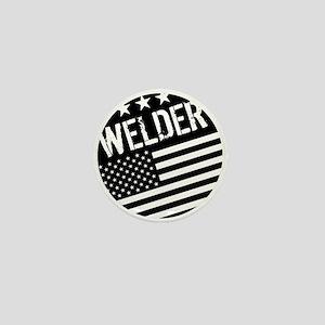 Welder: Black Flag (Circle) Mini Button