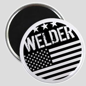 Welder: Black Flag (Circle) Magnets