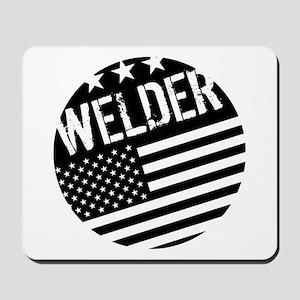 Welder: Black Flag (Circle) Mousepad