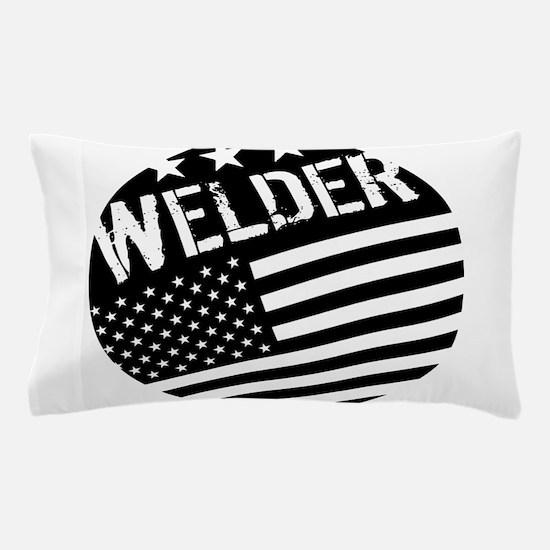 Welder: Black Flag (Circle) Pillow Case