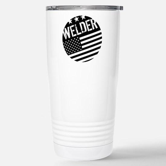 Welder: Black Flag (Circle) Travel Mug