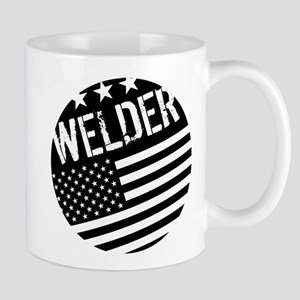 Welder: Black Flag (Circle) Mugs