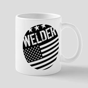 Welder: Black Flag (Circle) Mugs