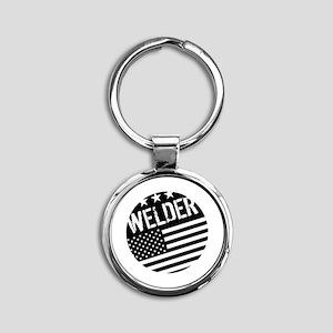 Welder: Black Flag (Circle) Keychains