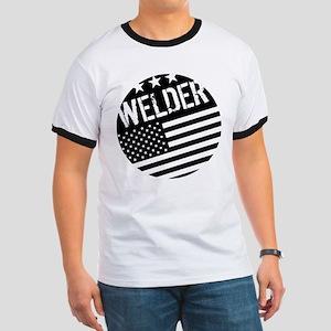 Welder: Black Flag (Circle) T-Shirt