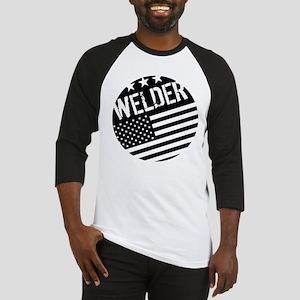 Welder: Black Flag (Circle) Baseball Jersey