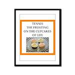 tennis Framed Panel Print