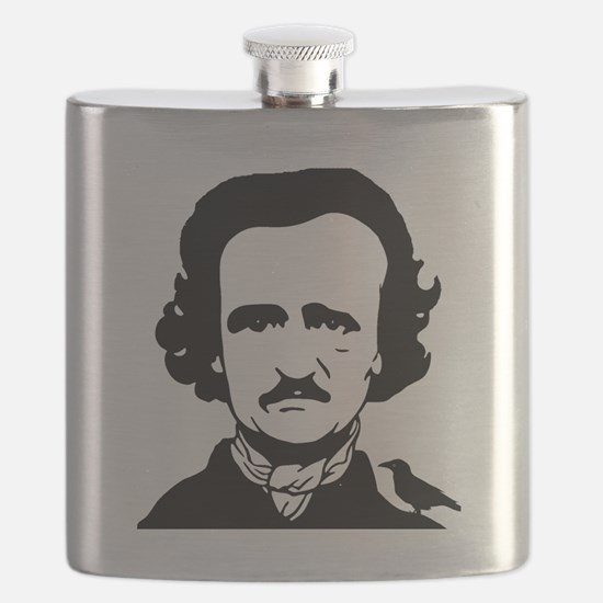 Cute Raven nevermore Flask