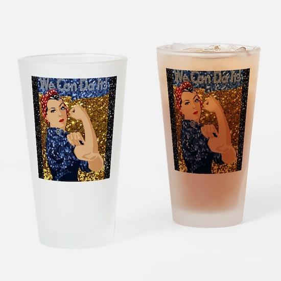 Unique Rosie riveter Drinking Glass