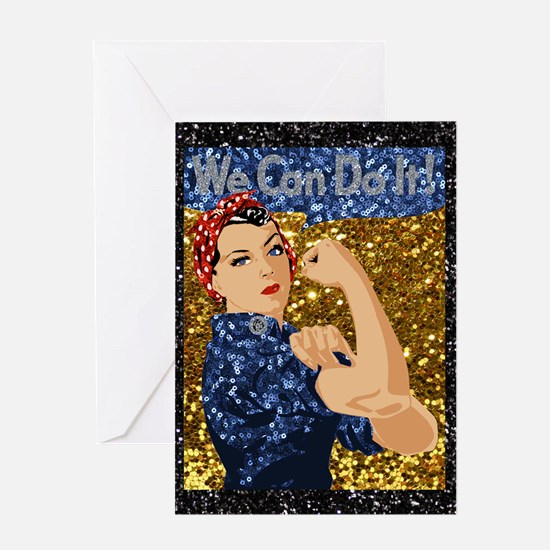 Unique Girl power Greeting Card