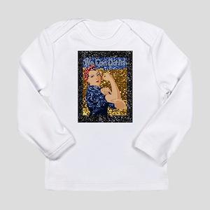 glitter rosie the riveter Long Sleeve T-Shirt