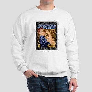 glitter rosie the riveter Sweatshirt