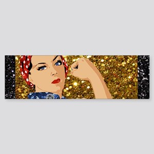 glitter rosie the riveter Bumper Sticker