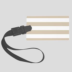 Brown, Beige: Stripes Pattern (H Large Luggage Tag