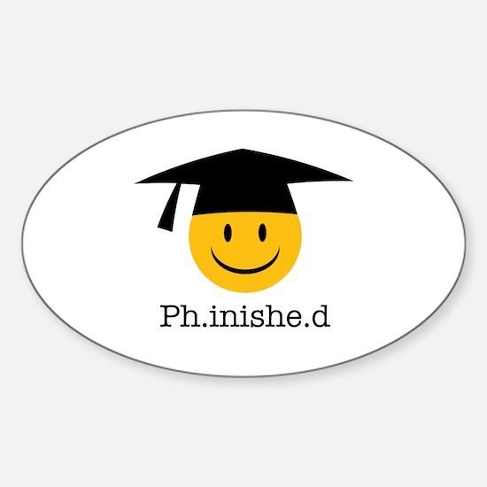 Unique Phd Sticker (Oval)