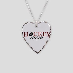 Hockey Mom Necklace Heart Charm