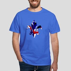Red, white & blue Fleur de lis Dark T-Shirt