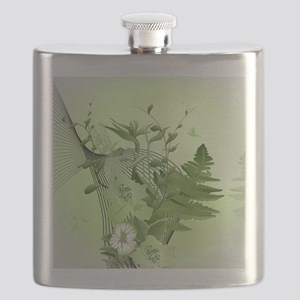 Wonderful soft green flowers Flask