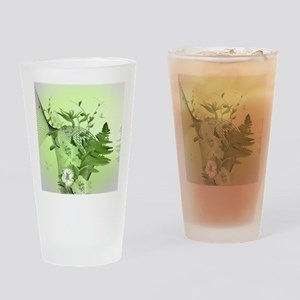 Wonderful soft green flowers Drinking Glass