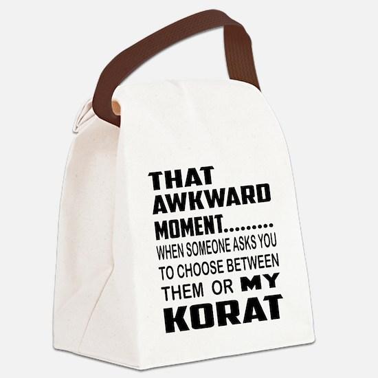 That awkward moment... Korat cat Canvas Lunch Bag