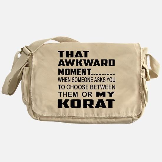 That awkward moment... Korat cat Messenger Bag