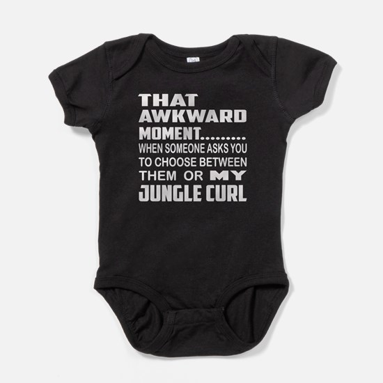 That awkward moment... Jungle-curl c Baby Bodysuit