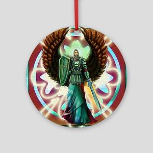 Angel of God Round Ornament