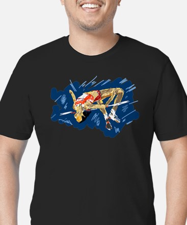 High Jumping Athlete T-Shirt