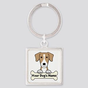 Personalized American Foxhound Square Keychain