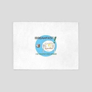 BREAKFAST T-shirt 5'x7'Area Rug