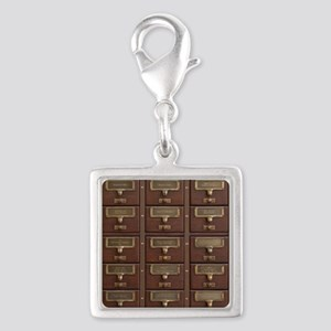 Vintage Library Card Catalog Drawers Charms