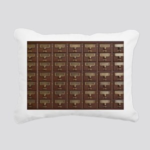 Vintage Library Card Cat Rectangular Canvas Pillow