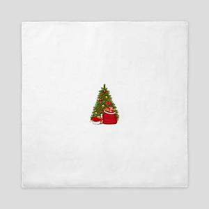3119891-christmas-tree-and-santa-bag-w Queen Duvet