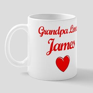 Grandpa Loves James Mug