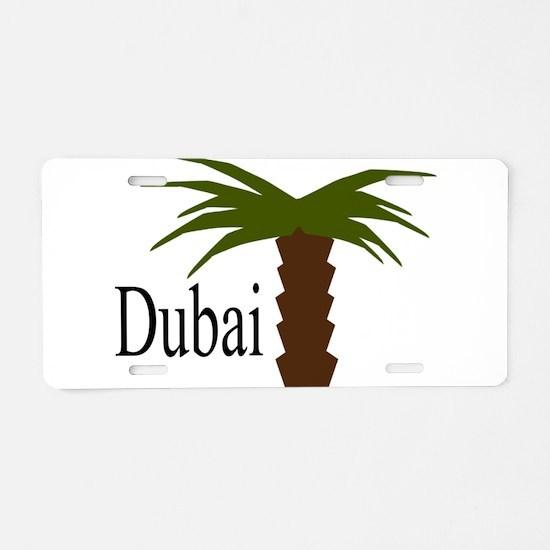 I love Dubai, amazing city Aluminum License Plate